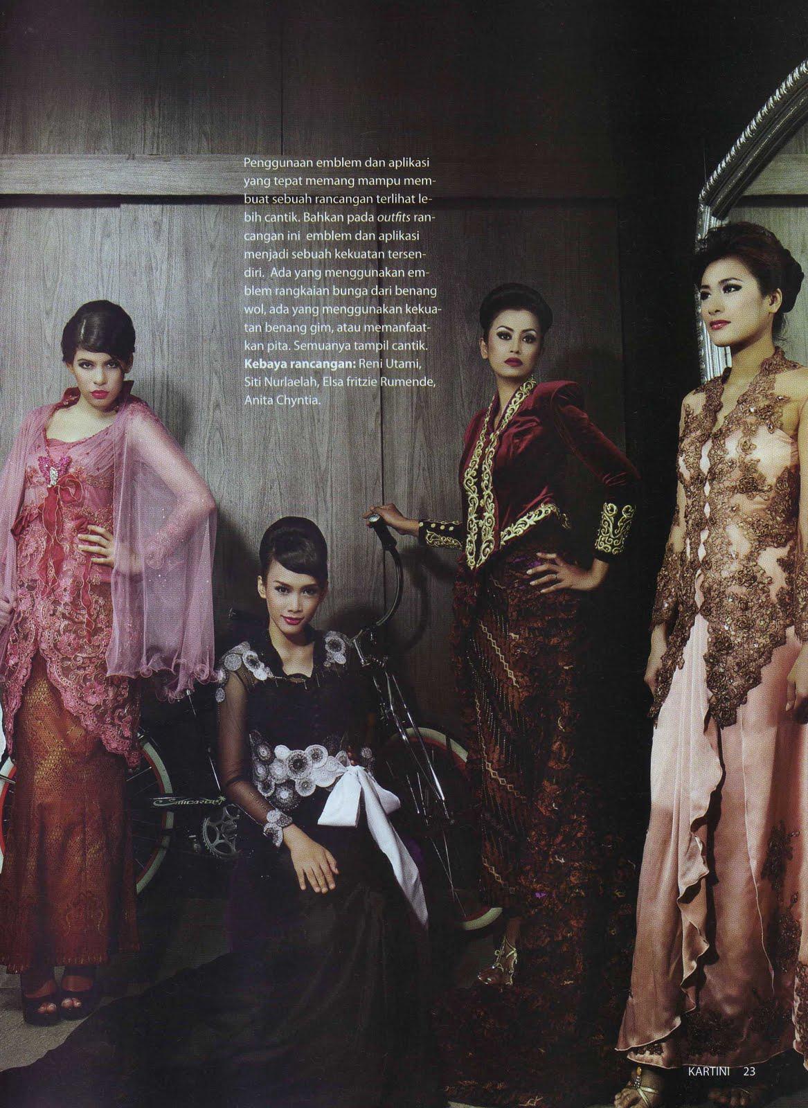 Pemotretan di Majalah Kartini ( 21 Finalis Lomba Rancang Kebaya )