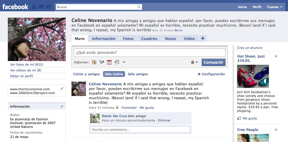 mi facebook en español