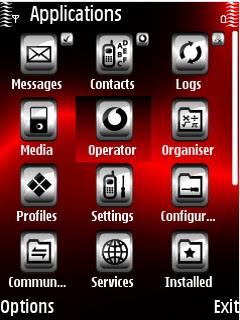 Temas Symbian: Tema Red Rays by Shadow_20 para Symbian S60V3.
