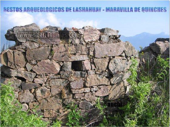 RESTOS ARQUEOLÓGICOS DE LASHAHUAY