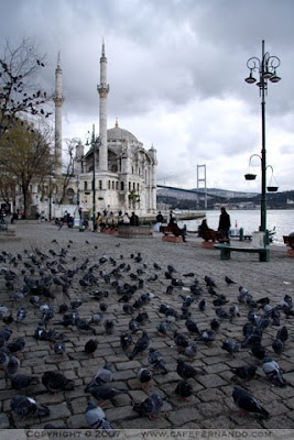 Ortaköy Mosque Istanbul photo pier and Bosphorus Bridge
