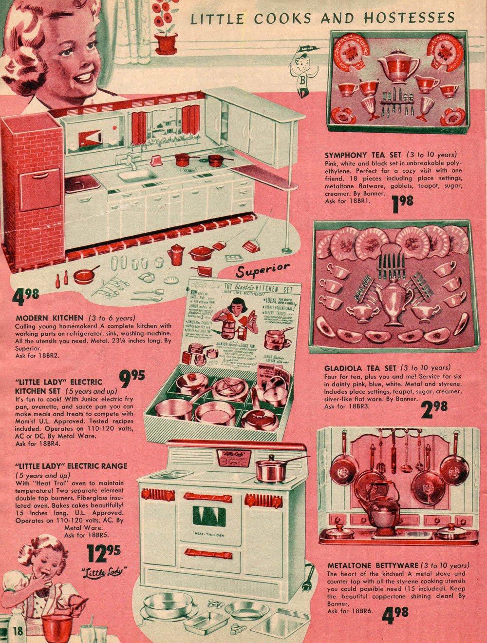 1950 39 s toy catalog ad vintage retro toys pinterest. Black Bedroom Furniture Sets. Home Design Ideas