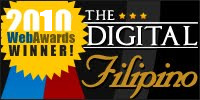 DigitalFilipino Web Awards 2010 winners badge