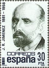 Juan Ramón Jiménez. Sello Centenario