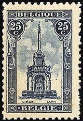 Sello de Le Perron, el monumento más famoso de Lieja, Bélgica