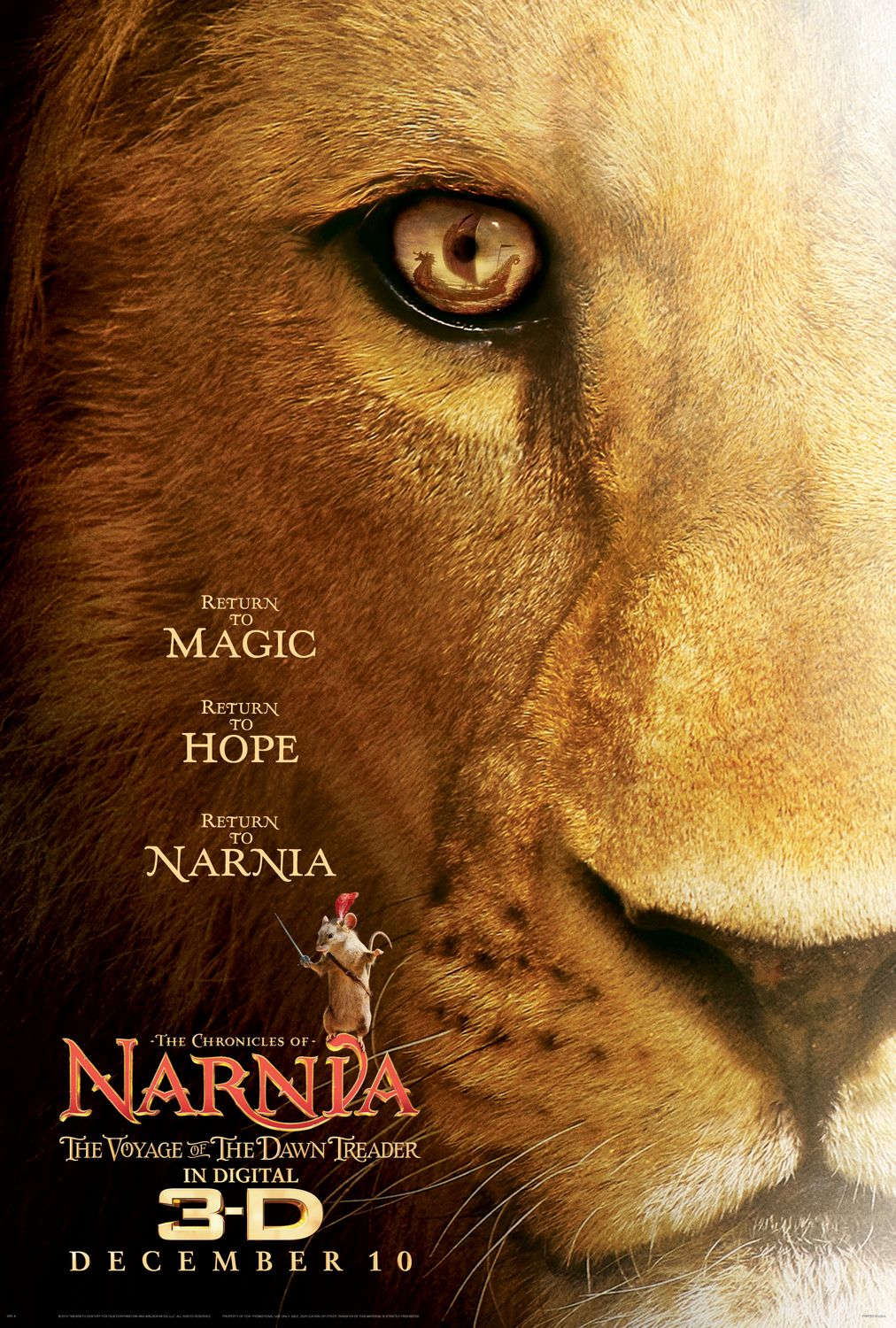 narnia 3 movie poster teaser trailer