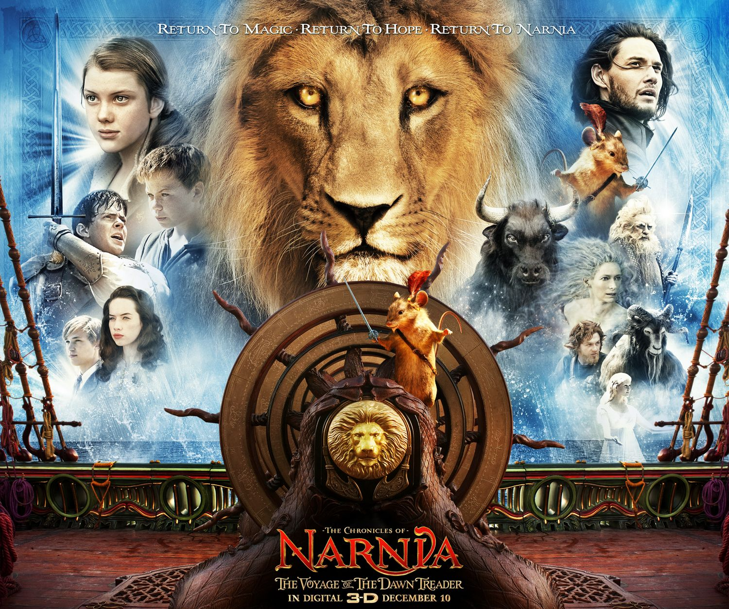 Yet a new preview clip of the Chronicles of Narnia 3 Voyage of the