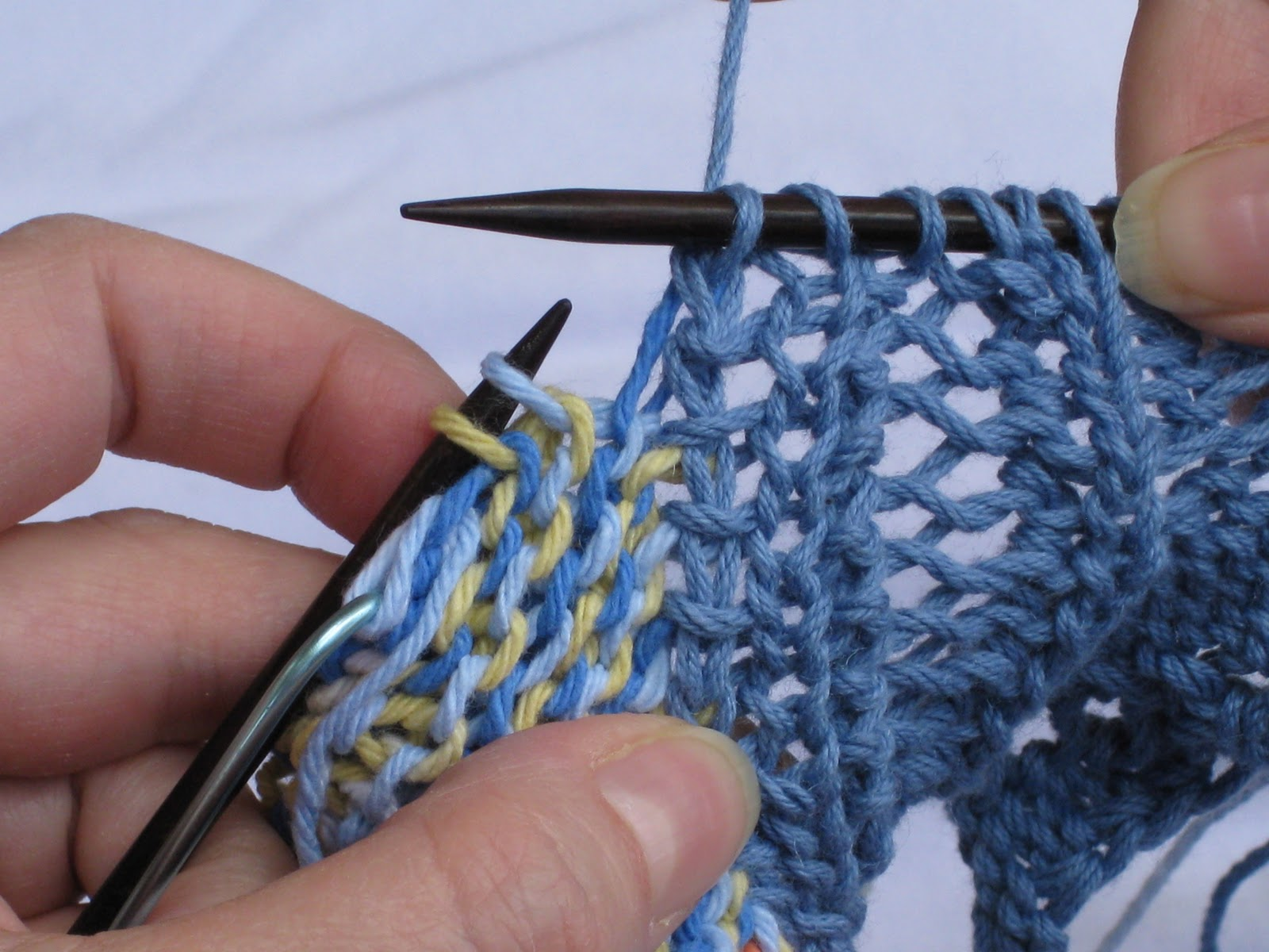 Knitting Pick Up Stitches Selvedge : Never Frog Pond: Edge tutorial, part 3: Making Joins