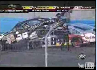 National Association  Stock  Auto Racing Crash on Dtv Ad Gets Mileage In Race Car Crash  Fcc Chief