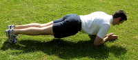 Jeff Archer doing The Plank