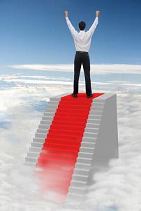 sucesso alcançando potencial máximo