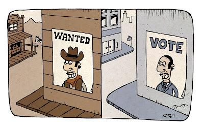 político cartaz procurado