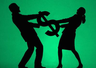 briga casal dinheiro