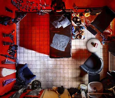 quarto de bordel visto de cima