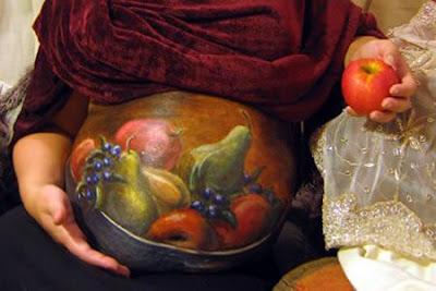body art grávidas frutas