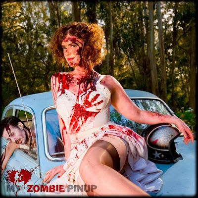 modelos zumbis pin-up calendário 2010 abril