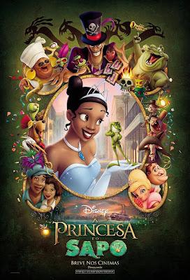 filme a princesa e o sapo poster cartaz