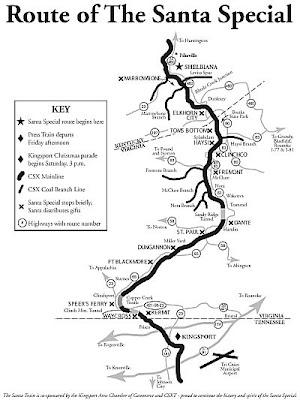 Santa Train Route