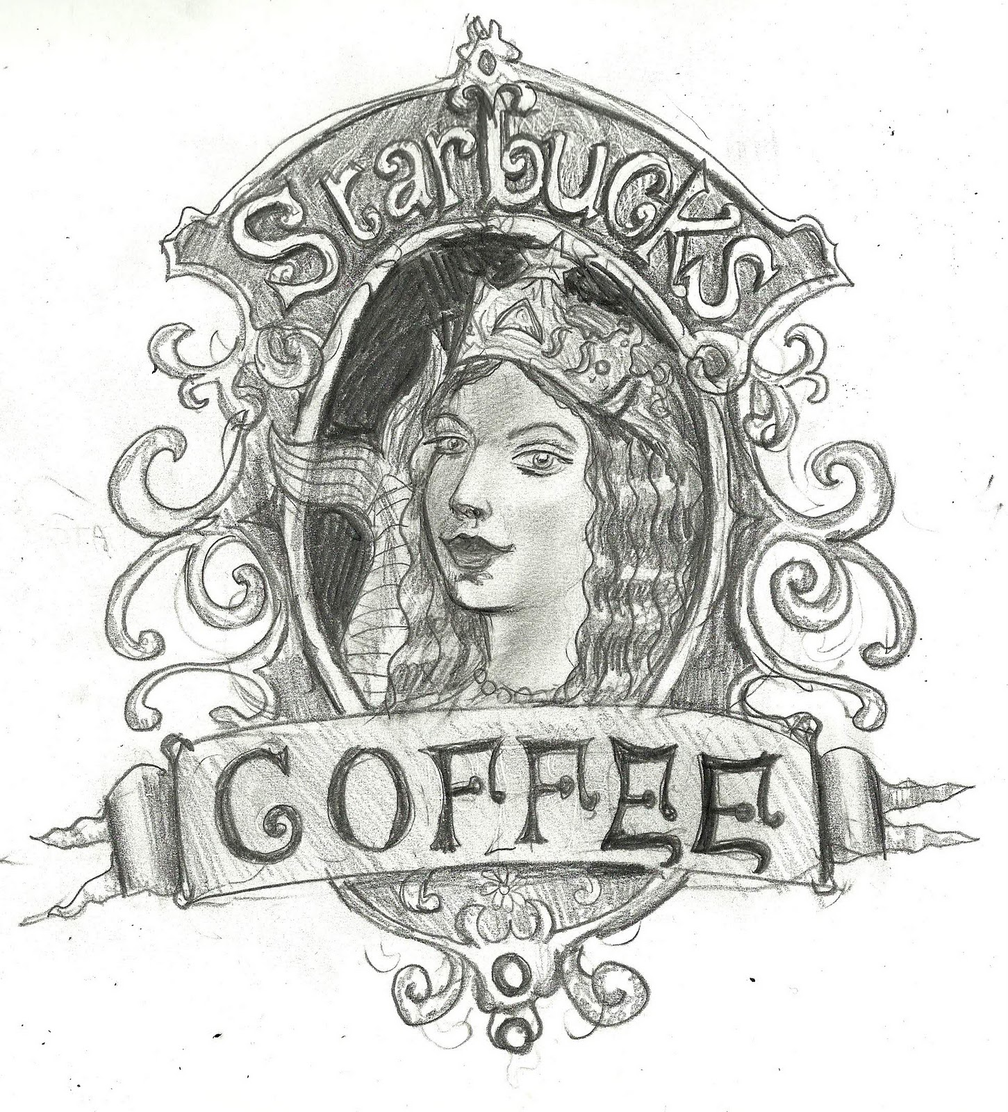 Free coloring pages of starbucks for Starbucks coloring page