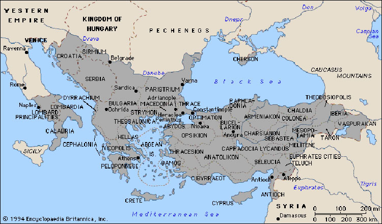 Ancient Byzantium Map