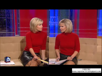gretchen carlson leather skirt library