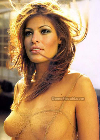 Eva Mendes Nipples see though pics