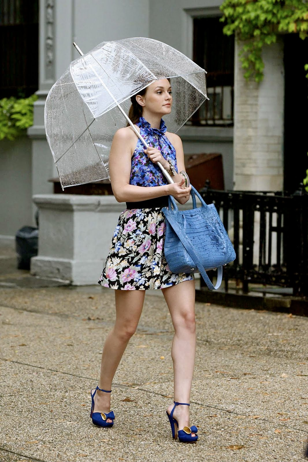 Totes Elements Clear Bubble Umbrella - Floral