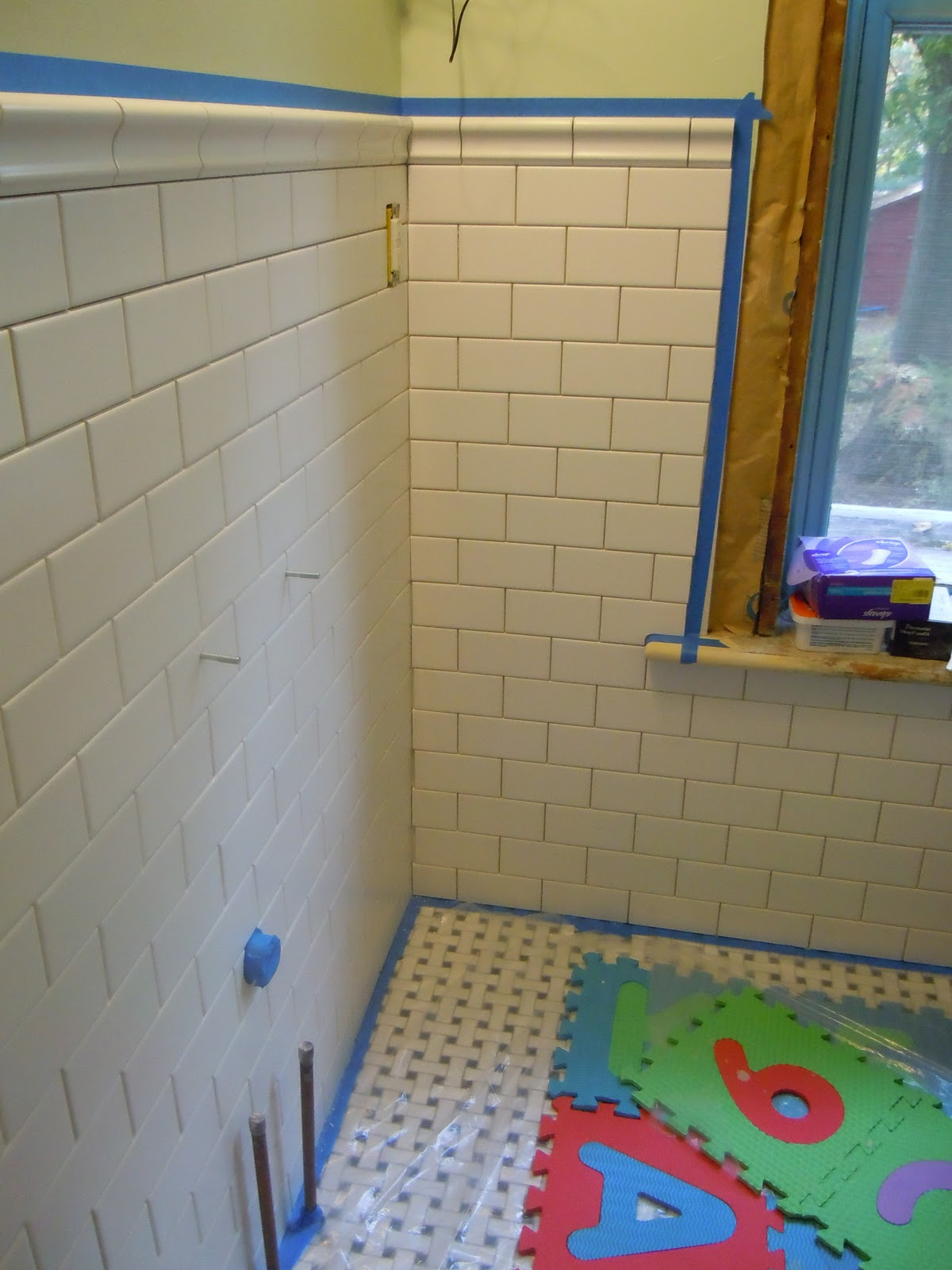 Forest Hall: Grouting Bathroom Wall Tiles