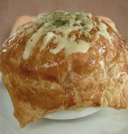 Sup Jamur Kental Di dalam Puff Pastry