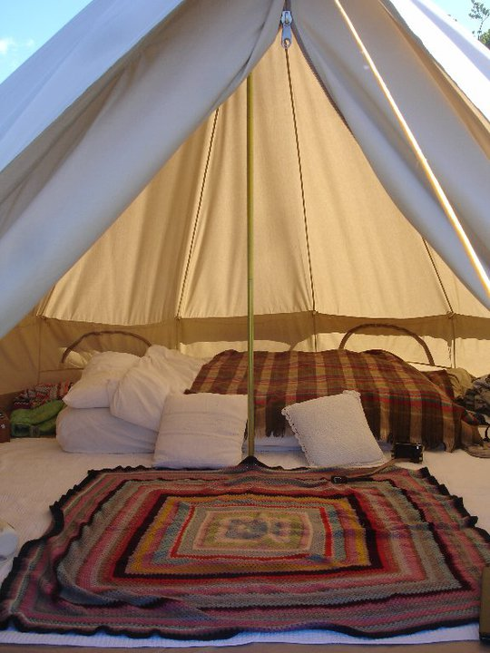 I absolutely love this tent it is so light and airy inside just makes you