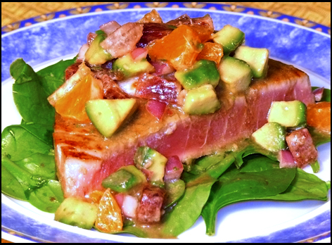 The Social Diner: Seared Ahi Tuna with Blood Orange and Avocado Salsa