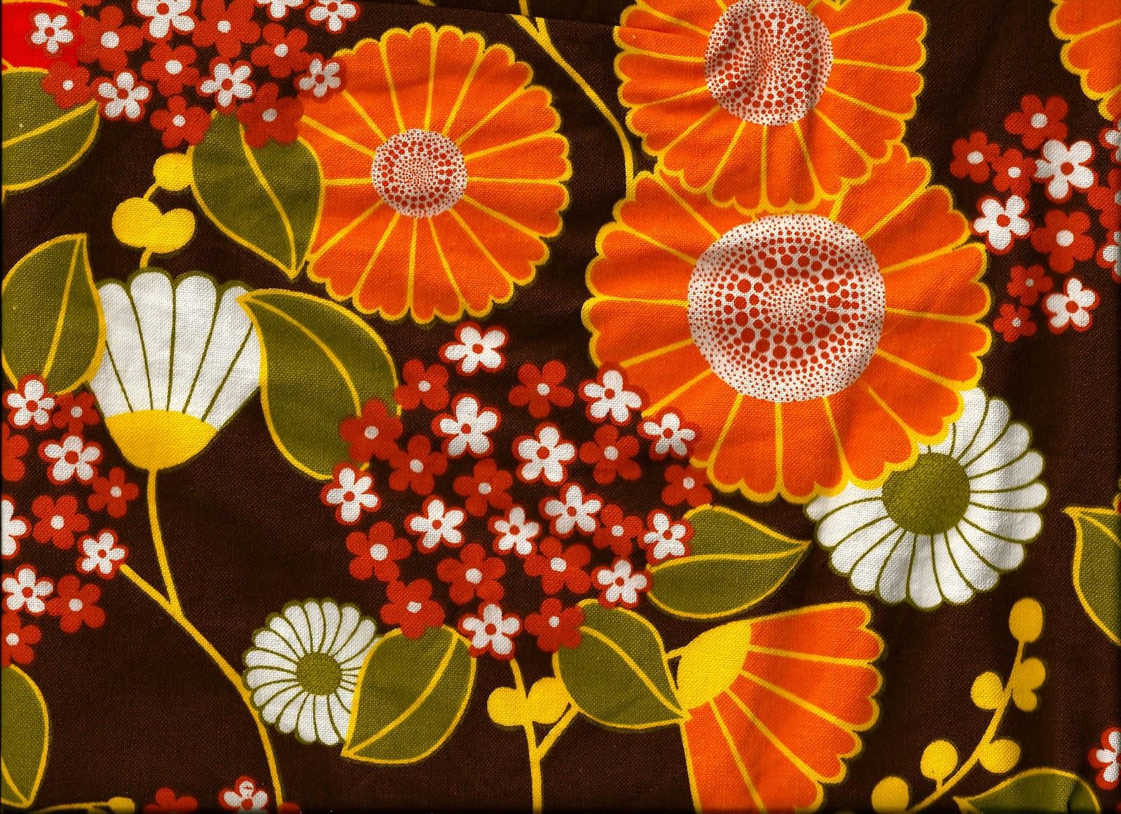 Pomme de jour blog vintage fabrics for Retro fabric