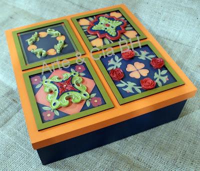 artesanato caixa resina decoupage madeira mdf