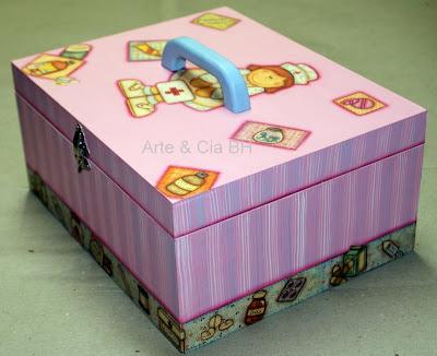 artesanato caixa remedio pintura madeira mdf