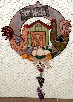 artesanato guirlanda pintura country madeira mdf