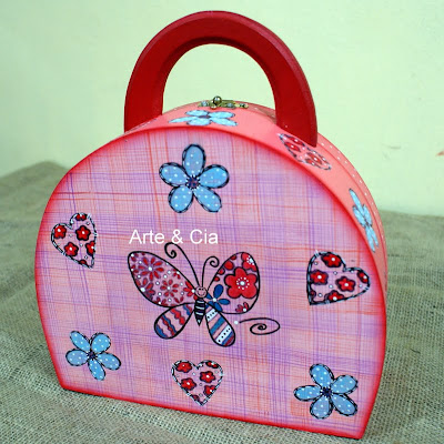 artesanato maleta madeira mdf