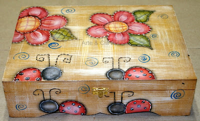 artesanato pintura country caixa madeira mdf
