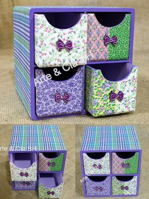 artesanato mdf caixa madeira tecido