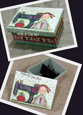artesanato caixa costura decoupage madeira mdf