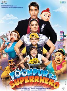 Toonpur Ka Superrhero DVD Poster Screenshots Hindi movie wallpapers photos CD covers review stills Ajay Devgn, Kajol, Tanuja