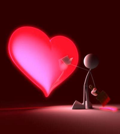 wallpapers de corazones. corazones de amor para