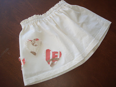 Recycle your t-shirt into a toddler skirt (tutorial) step 13 via lilblueboo.com