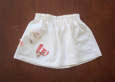 Recycle your t-shirt into a toddler skirt (tutorial) 1 via lilblueboo.com