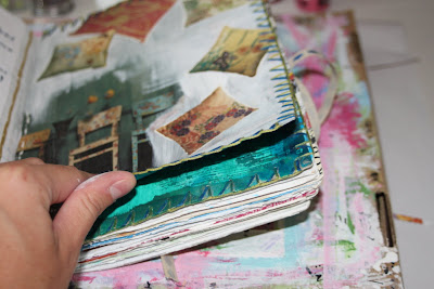 Making a Composition Book Art into a Journal 20 (Tutorial) via lilblueboo.com