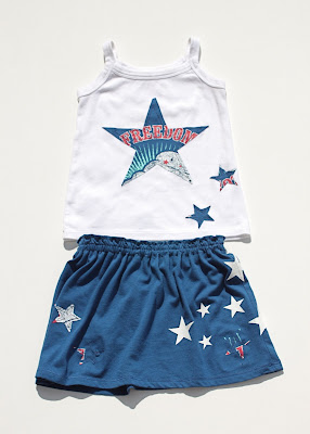 4th of July T-shirt Toddler Skirt via lilblueboo.com