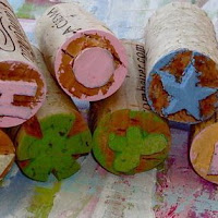Top tutortials week - Itty Bitty Cork Stamps via lilblueboo.com
