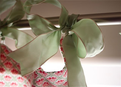 Hand-Sewn Ribbon-Top Curtain Tutorial  via lilblueboo.com