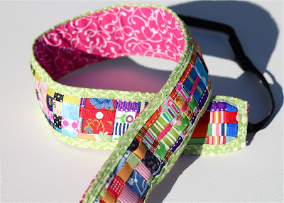 Scrap Ribbon Camera Strap Cover (A Tutorial) 2 via lilblueboo.com
