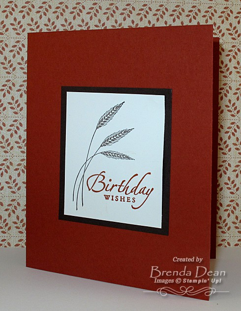 Autumn Days Sincere Salutations 1 Quick Easy Happy Birthday Card