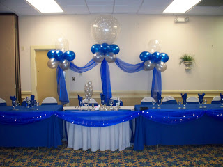 party people event decorating company royal blue and